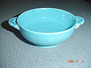 Homer Laughlin Fiesta Ware Turquoise Creme Soup Bowl