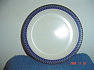 Mikasa Potters Touch Aztec Blue Dinner Plate
