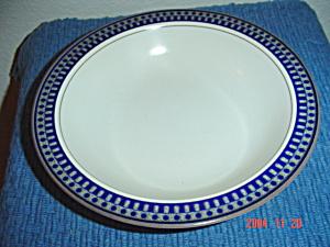 Mikasa Potters Touch Aztec Blue Rimmed Soup Bowls (Image1)