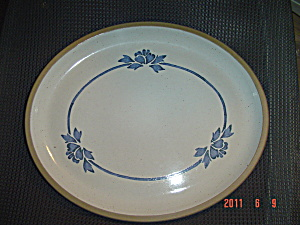 Wedgwood Midwinter Blue Print Oval Platter