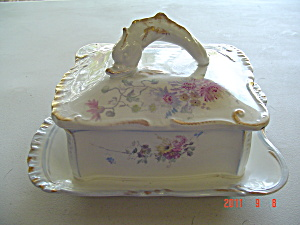 Vintage Royal M Covered Cheese Or Butter Dish