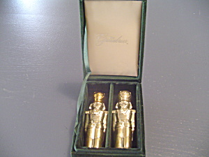 I. Godinger Greenbriar Silver Plated Salt/Pepper Shakers Nutcrackers (Image1)