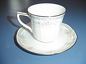 Noritake Rothschild Cups And Saucers 7293