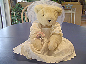 Vermont Teddy Bear Company Jointed Bride Bear (Beige Or Tan)