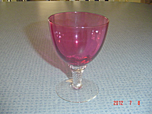 Vintage George Borgfeldt Cranberry Lisa Wine Glasses/goblets