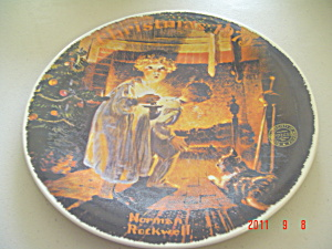 Edwin Knowles Somebody's Up There Rockwell Collector Plate