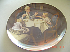 Edwin Knowles The Gourmet Rockwell Collector Plate