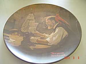 Edwin Knowles The Ship Builder Rockwell Collector Plate