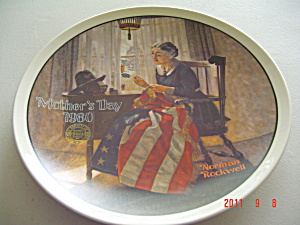 Edwin Knowles Mother's Day 1980 Rockwell Collector Plate