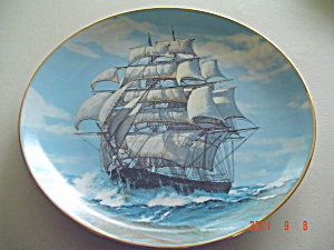 Knowles The Twilight Under Full Sail Golden Age Collector Plate
