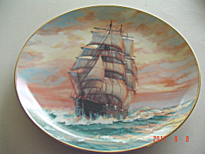 Knowles Blue Jacket At Sunset Golden Age Collector Plate