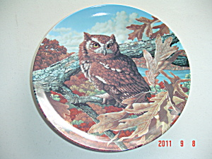 Knowles Eastern Screech Owl Stately Owls Collector Plate