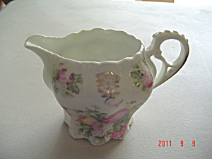 Vintage Creamer Yellow, Pink, Rose Peony Flowers