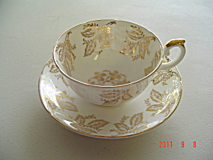 Royal Grafton Gold Leaf Cup and Saucer Set  (Image1)