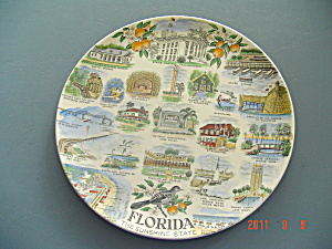 State Of Florida Collector Plate By Adams Potteries