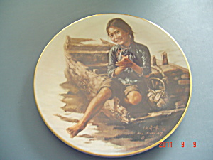 Bradex Children Of Aberdeen Sampan Girl Collector Plate