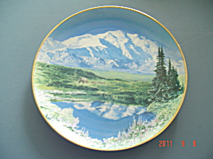 Hamilton Sea To Shining Sea Mt. Mckinley Dall Sheep Collector Plate