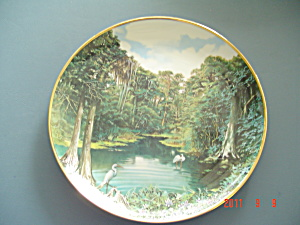 Hamilton Sea To Shining Sea Florida Panther Everglades Collector Plate