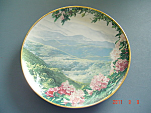 Hamilton Sea To Shining Sea Gray Fox Blue Ridge Mts. Collector Plate
