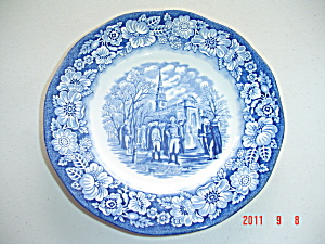 Liberty Blue Staffordshire Salad Plate