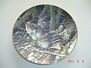 Bradex-george Beneath The Pines Our Woodland Friends Collector Plate
