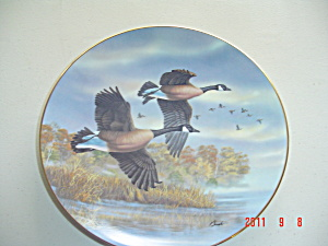 Bradex Golden Flight Canada Geese Collector Plate