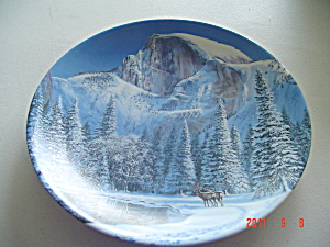 Ws George Blue Snow At Half Dome Nature's Legacy Collector Plate