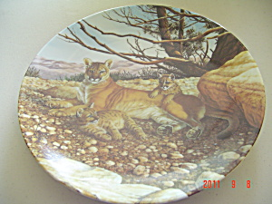Knowles The Cougar Great Cats Of Americas Collector Plate