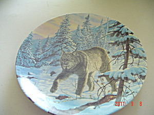 Knowles The Lynx Great Cats Of Americas Collector Plate
