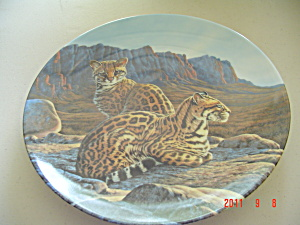Knowles The Ocelot Great Cats Of Americas Collector Plate