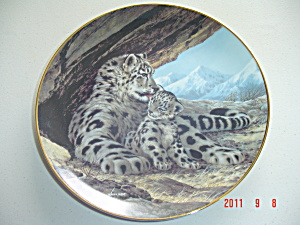 Ws George The Snow Leopard Last Of Their Kind Collector Plate