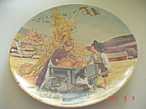 Knowles Thanksgiving American Holidays Collector Plate