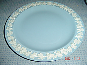 Wedgwood Blue (Lavender) Embossed Queen's Ware Lunch Plates