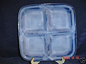 Brand New Sango Nova Blue Square Relish Tray