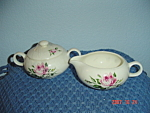 Click here to enlarge image and see more about item 1020: Salem China Melody Lane Creamer/Covered Sugar Bowl Set