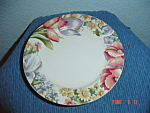 Click here to enlarge image and see more about item 1038: International Tableworks Floral Garden Dinner Plates
