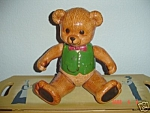 Click here to enlarge image and see more about item 1098: Ceramic JOINTED Teddy Bear Boy