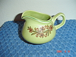 Click here to enlarge image and see more about item 1112: TS&T Bonnie Green Creamer (Rooster)