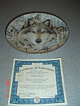 Click here to enlarge image and see more about item 1145: Bradex Winter Watch Collector Plate w/Certificate