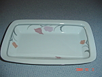 Click here to enlarge image and see more about item 6558: Dansk Tivoli Belles Fleurs Gray Oblong Baking Dish
