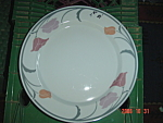 Click here to enlarge image and see more about item 6559: Dansk Belles Fleurs Gray Salad Plates - Japan