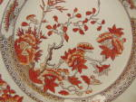 Click here to enlarge image and see more about item 12781: Copeland Spode India Tree Red Dinner Plate(s)