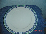 Click here to enlarge image and see more about item 1435: Villeroy & Boch Castell Dinner Plates - Germany