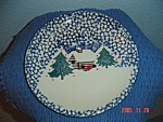 Click here to enlarge image and see more about item 1478: Tienshan Folk Craft Cabin in the Snow Dinner Plates