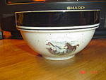Click here to enlarge image and see more about item 1482: Tienshan Scottyz Folkcraft Running Horses Bowls