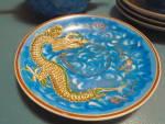 Click to view larger image of Nichimen Raised Dragon 10 Pc. Tea Set Occupied Japan ANTIQUE (Image3)