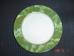 Click here to enlarge image and see more about item 8025: Aynsley Onxy Green Bread and Butter Plate