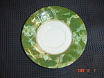 Click here to enlarge image and see more about item 8026: Aynsley Onxy Green Saucers