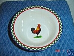 Click here to enlarge image and see more about item 1551: International Ella's Rooster Cereal Bowls