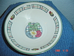 Click here to enlarge image and see more about item 1595: International Plaid Posey Dinner Plates